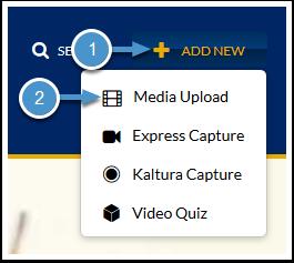 Add New Media Upload