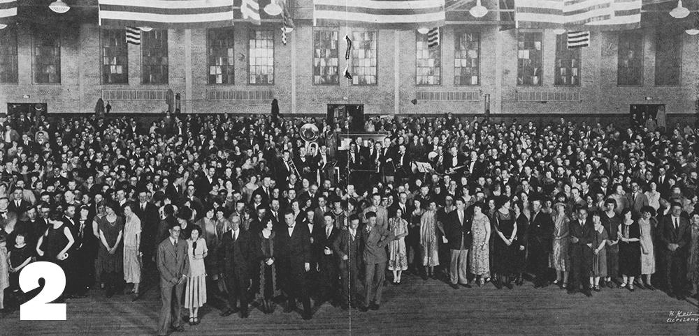 1925, the new Wills Gymnasium