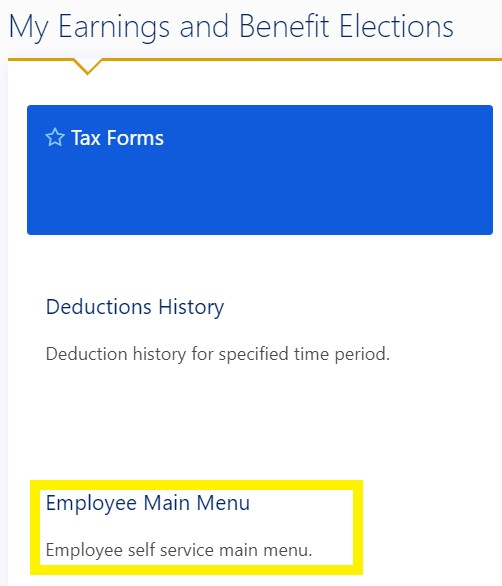 Step 3 Employee Main Menu Screenshot