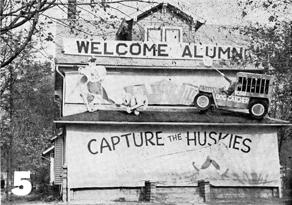 Phi Beta Phi Homecoming decorations 1949