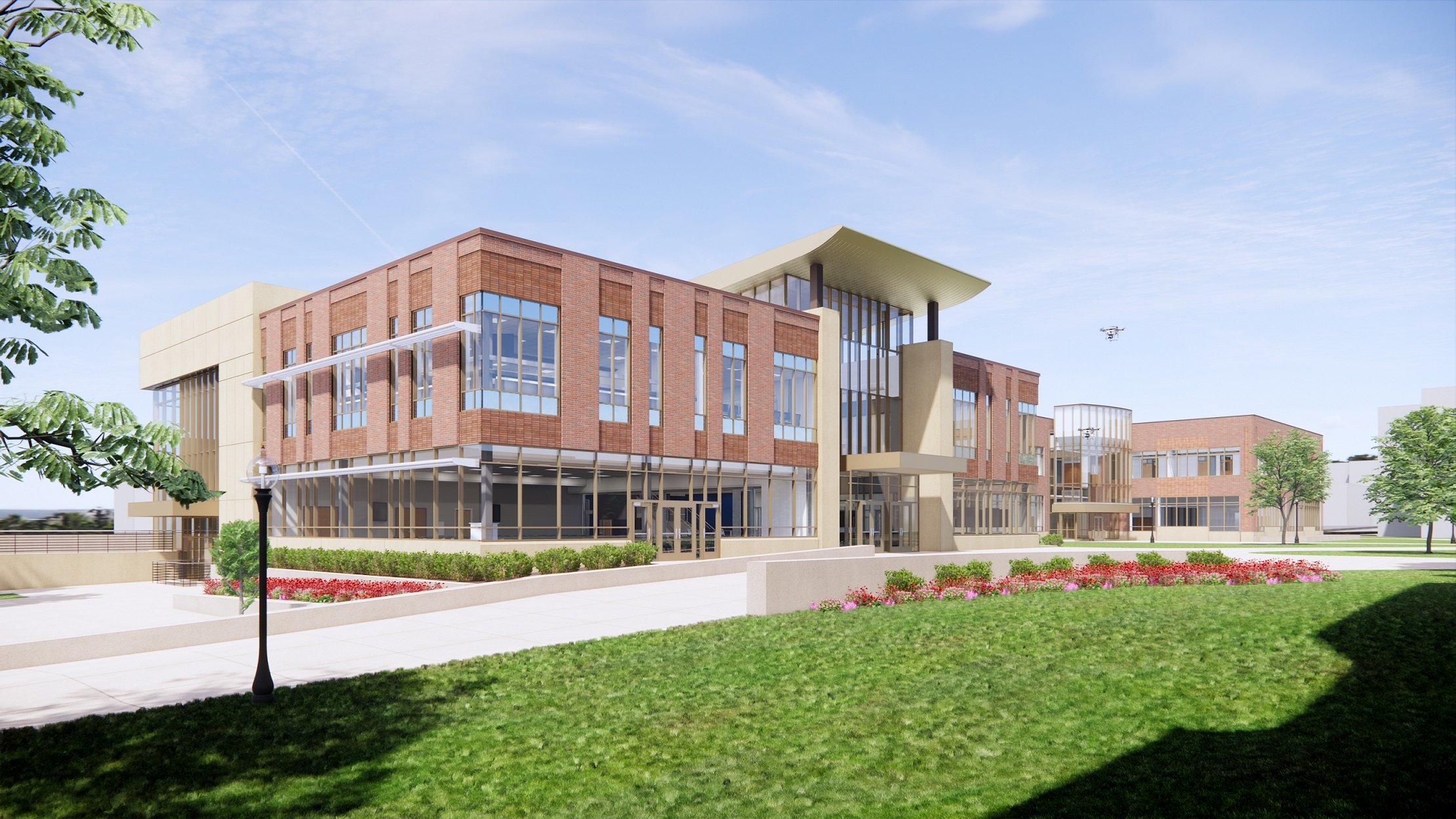 Rendering of Aeronautics and Engineering Building addition, courtesy of DS Architecture LLC