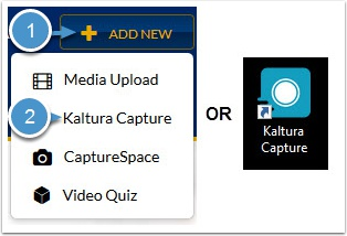 Launch Kaltura from website or desktop