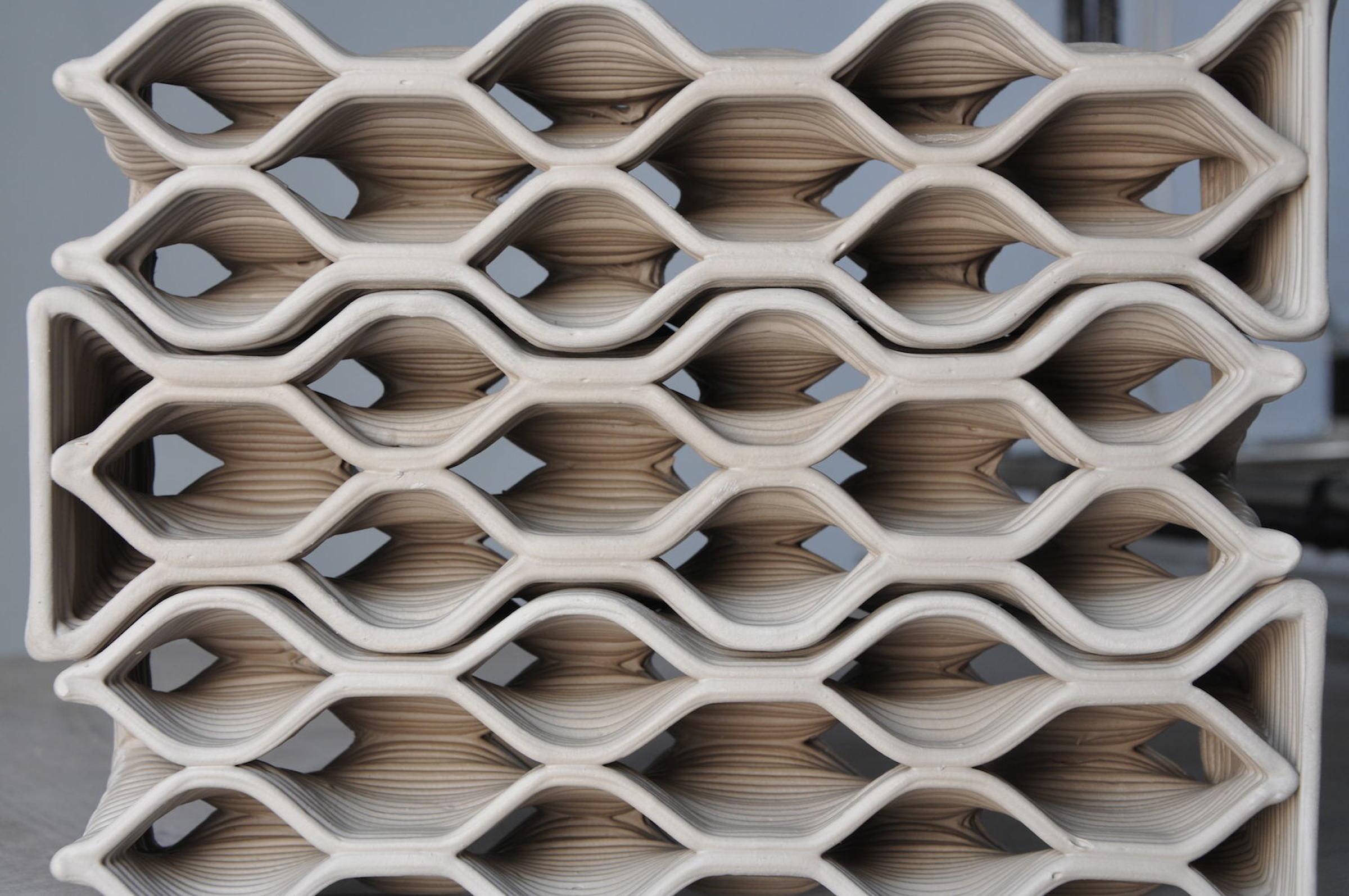 3D Printed Ceramic Bricks