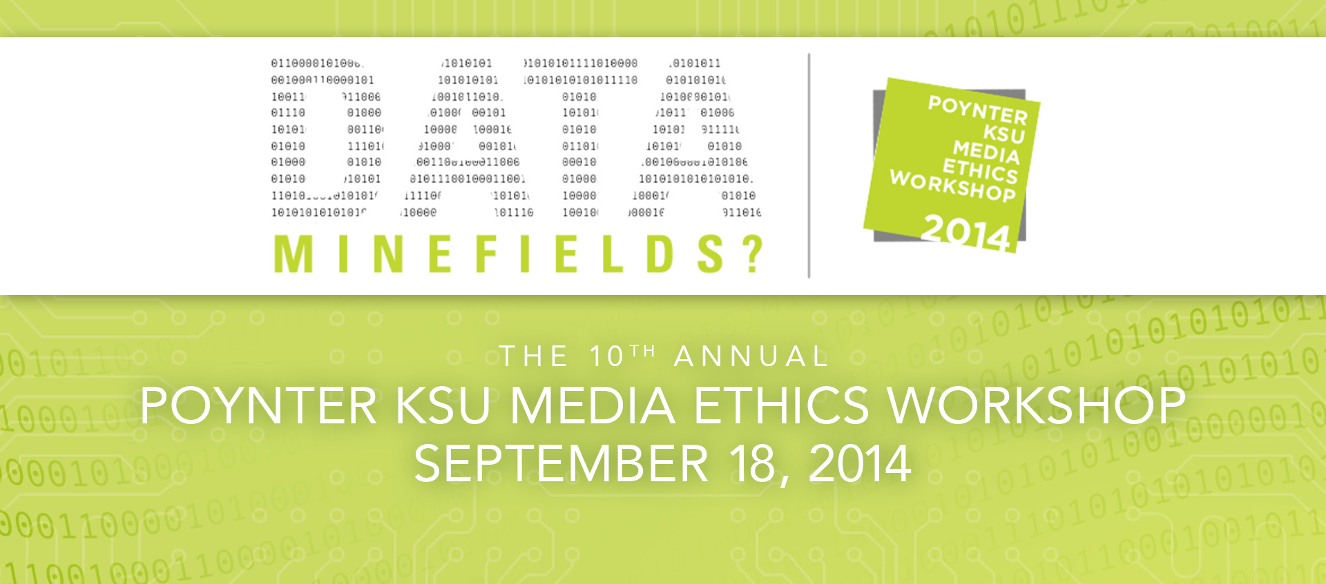 Poynter KSU Media Ethics Workshop