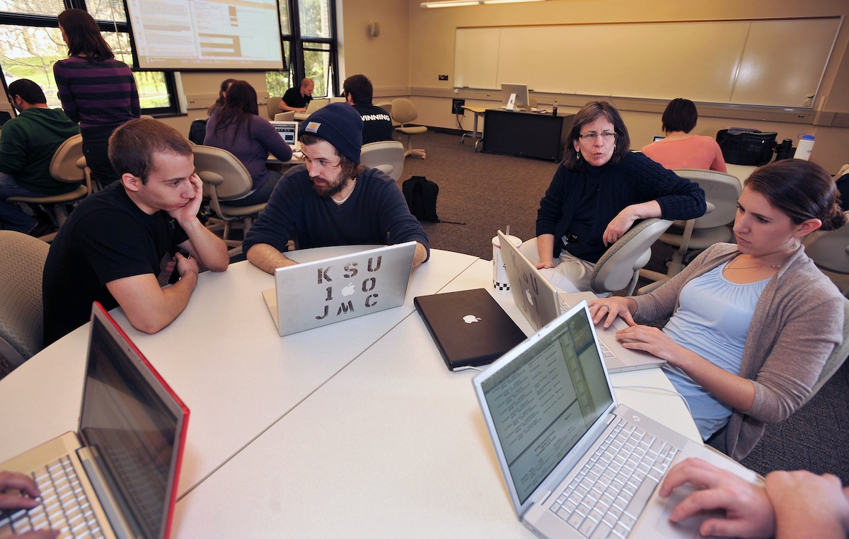 Students from Kent State's Web Programming for Multimedia Journalism class