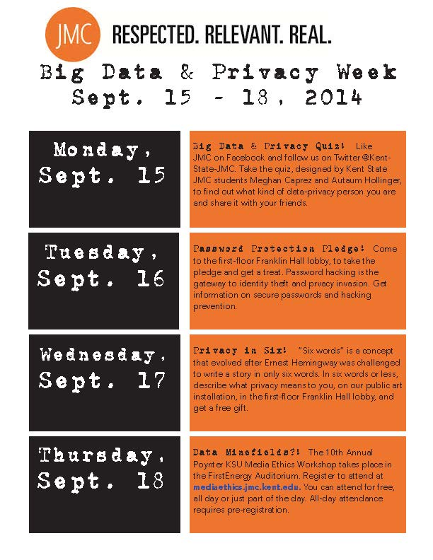 Graphic for Big Data and Privacy Week