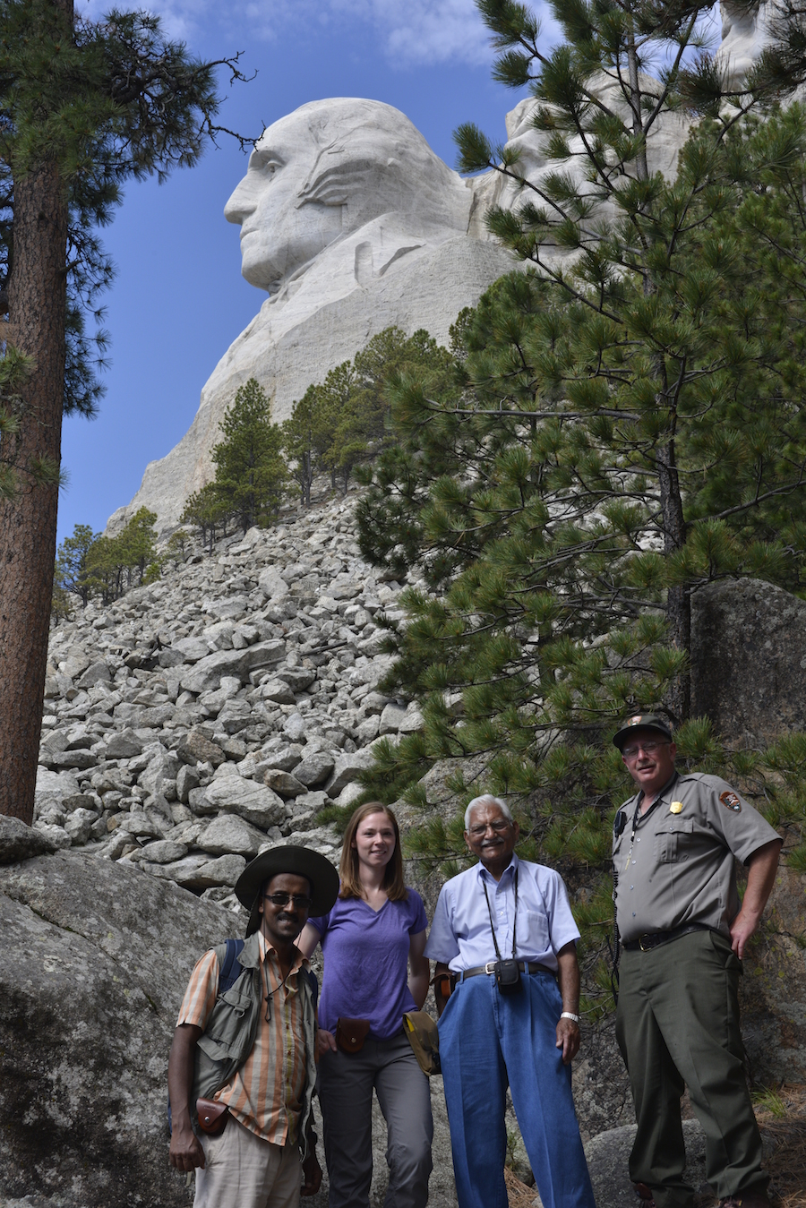 Kent State Researchers at Mount Rushmore