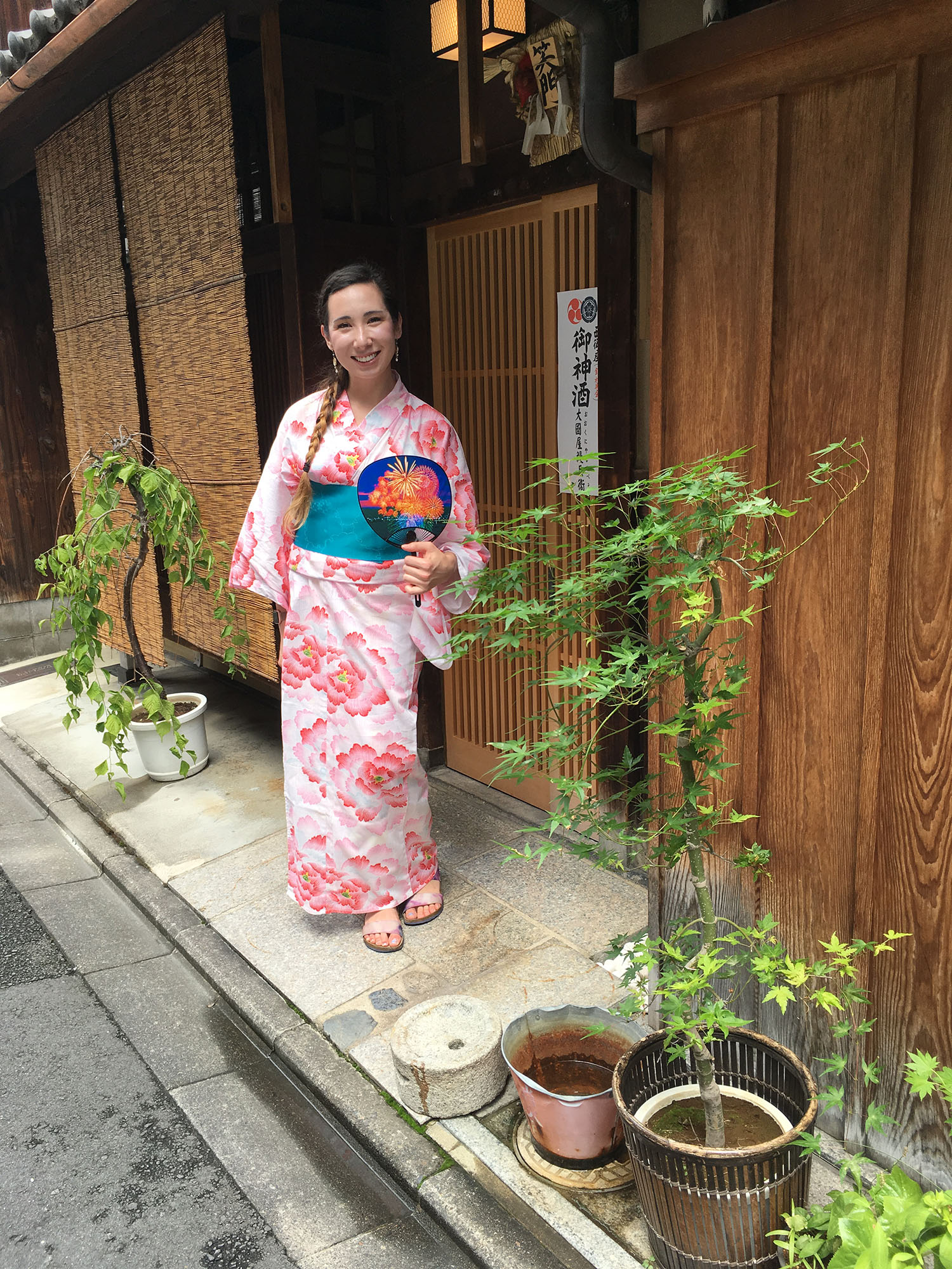 Rose wearing yukata