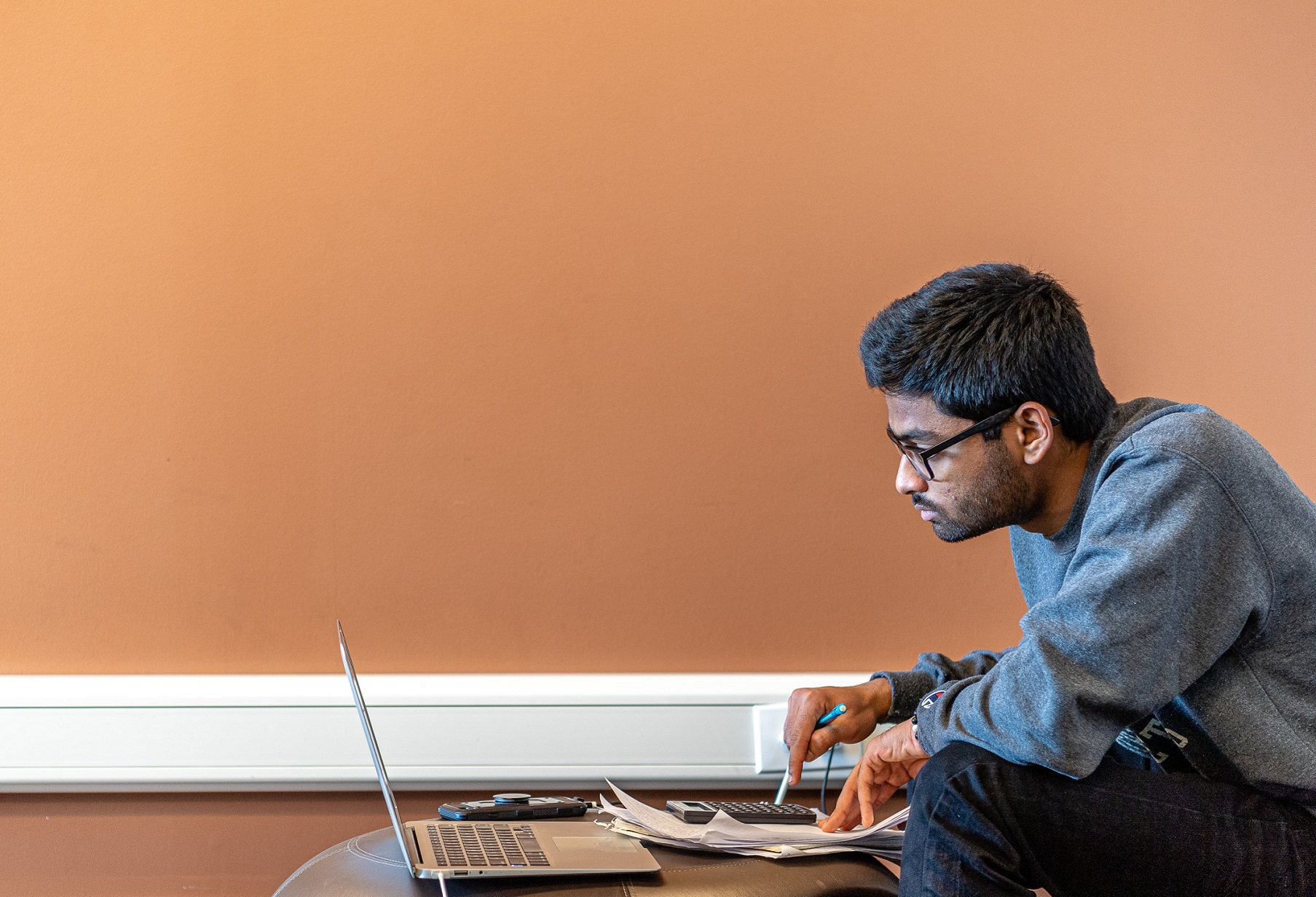 A student prepares for an upcoming exam.
