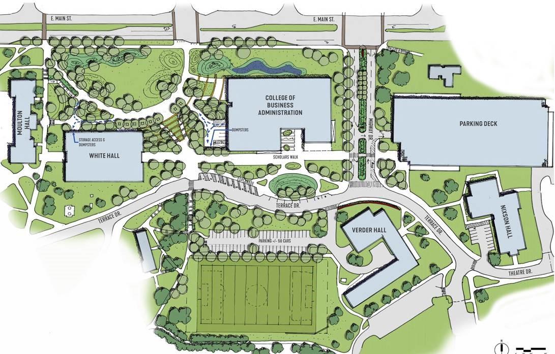 Rendering of Gateway Area Site Plan