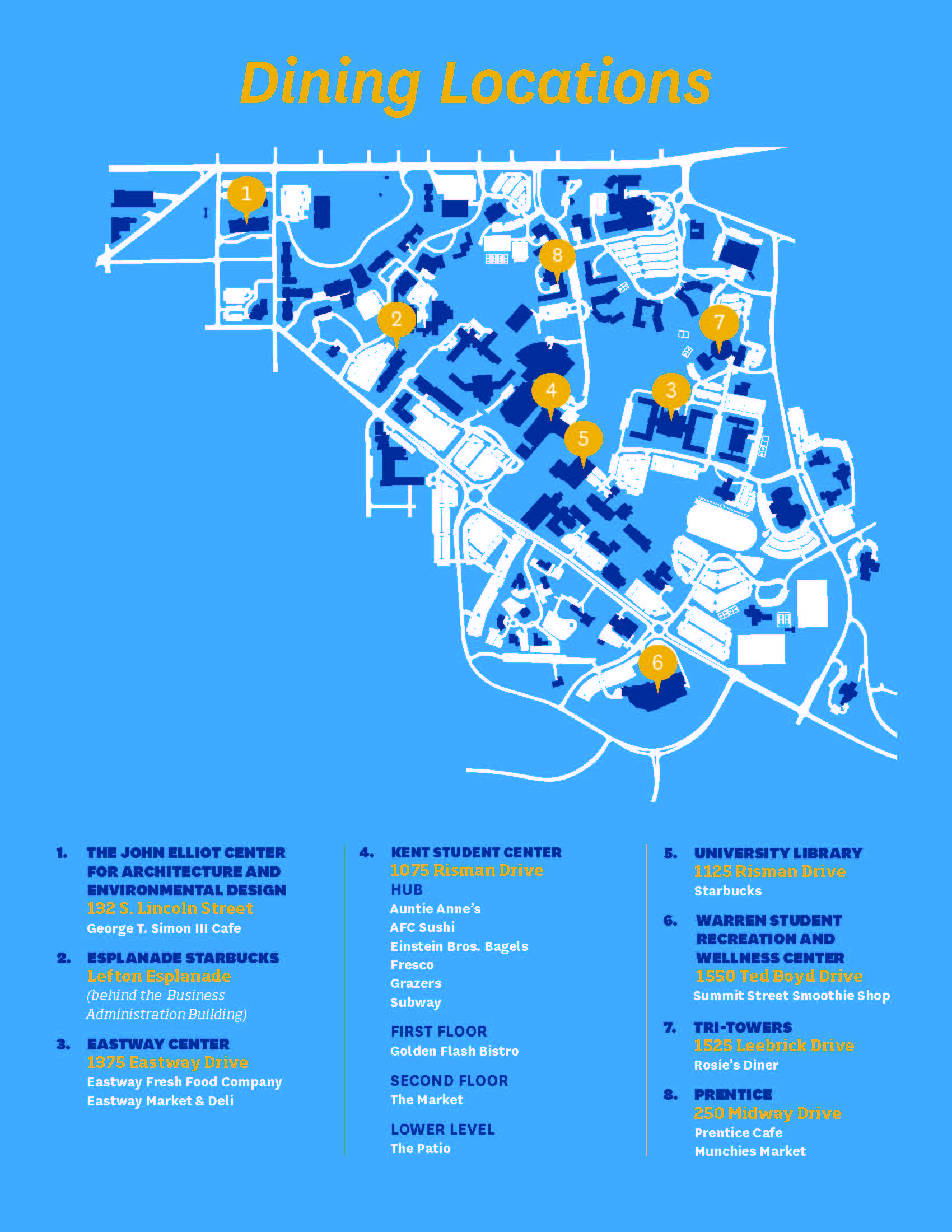 Dining Location Map