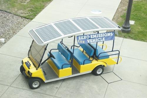photo of solar golf cart