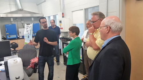 CAE Industrial Advisory Board visits Fuel Cell Lab