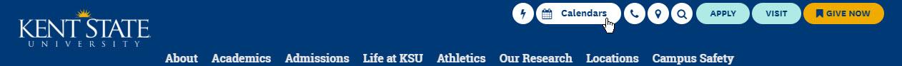 Screenshot of Kent State header