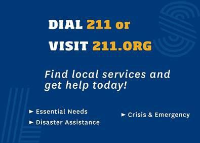 Dial 211 or Visit 211.org