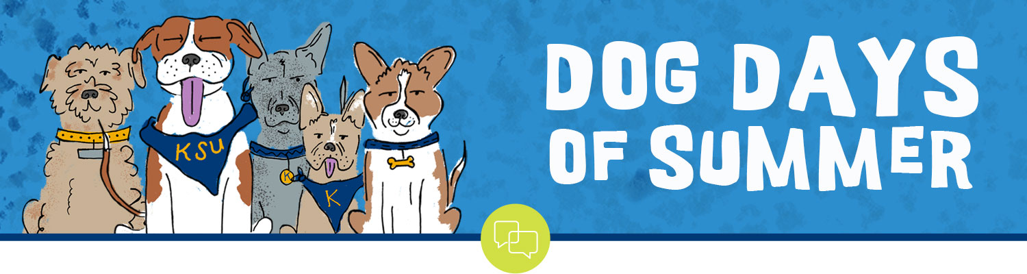 Dog Days of Summer with illustrated dogs