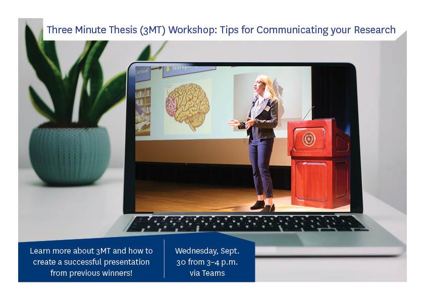 Three Minute Thesis Workshop