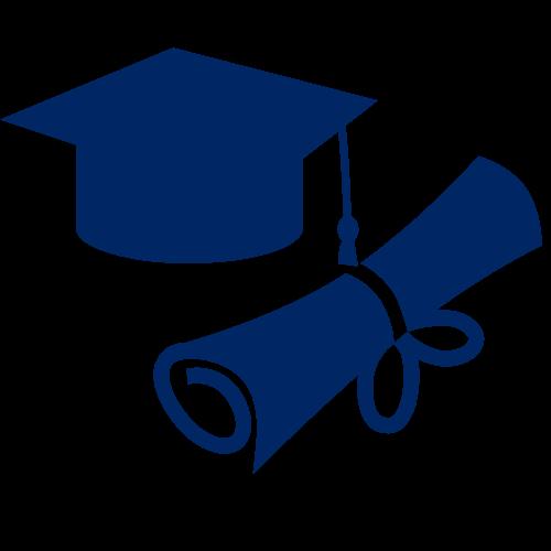 grad cap and diploma