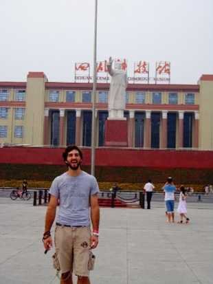 Senior communications studies major Nathaniel Choma previously participated in a Sichuan program in the summer of 2013.