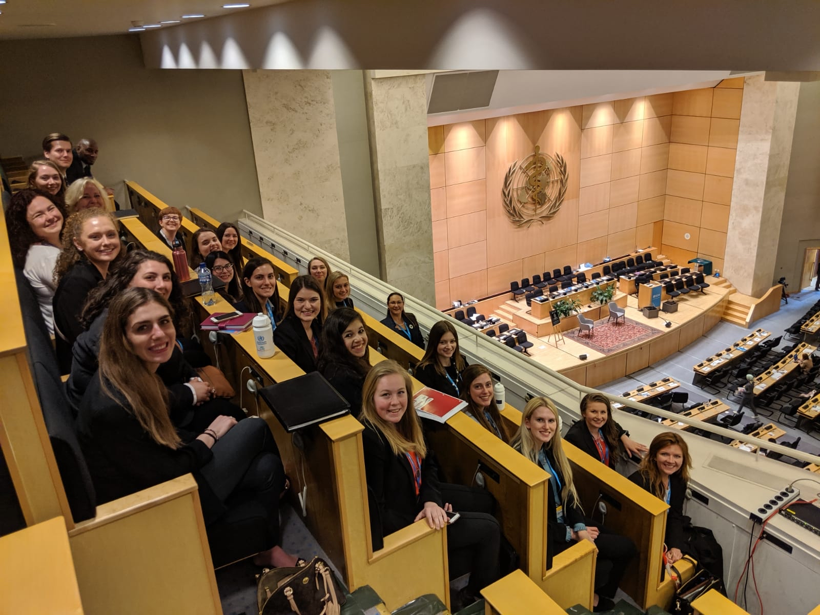 Students at the World Health Assembly at the United Nations Headquarters