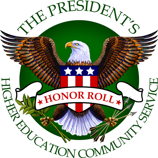 The President's Higher Education Community Service Honor Roll seal