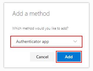 Choose Authenticator App