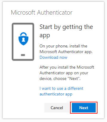 Ensure you have the Microsoft Authenticator App