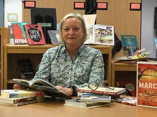 Dr. Karen Gavigan conducting research at the Reinberger Children's Library Center
