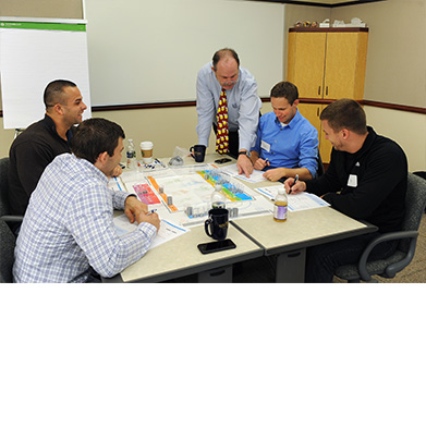 Program Participants Engage in Group Activity