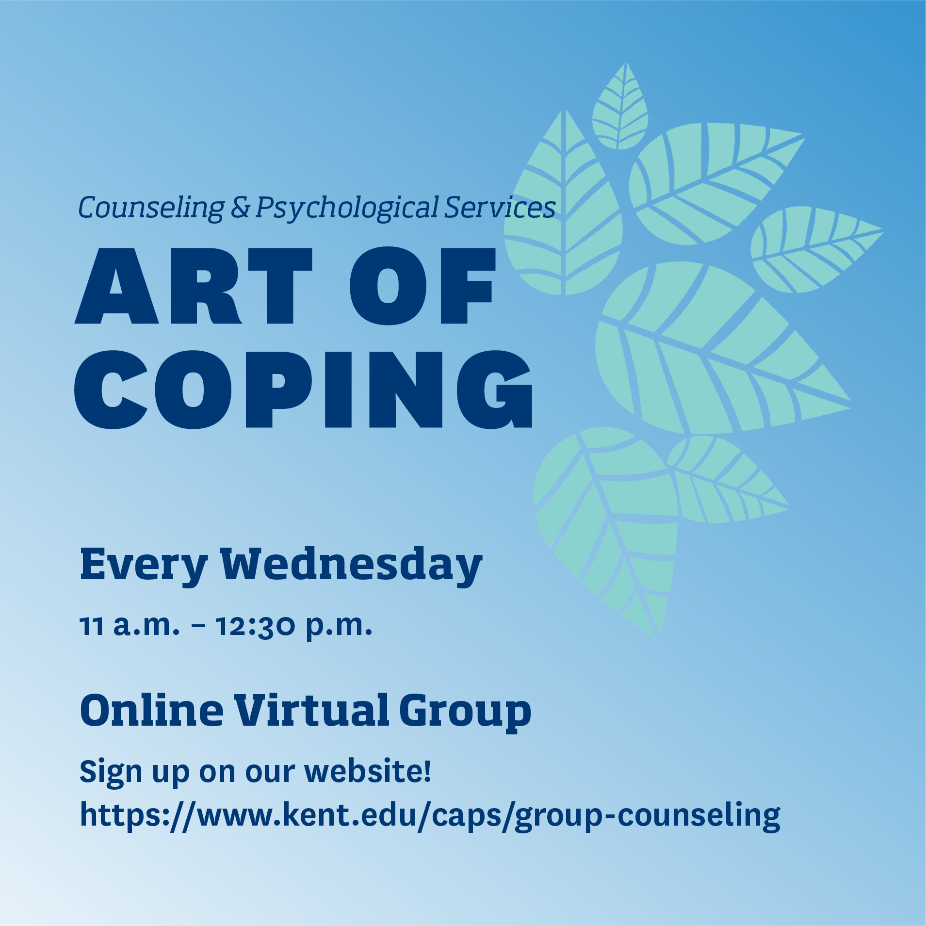 ART OF COPING GROUP: BUILDING EMOTIONAL RESILIENCE Flyer