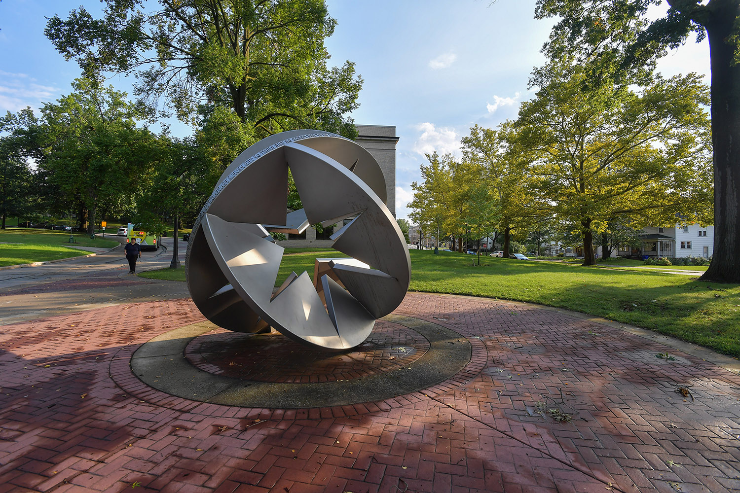 A sculpture on Kent State campus