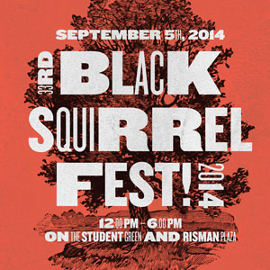 A Kent State tradition for 33 years, the annual Black Squirrel Festival will take place Friday, Sept. 5, from 12-6 p.m. on the Student Green and Risman Plaza.