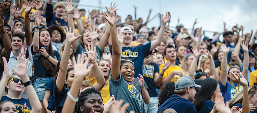 Kent State University football game crowd photo
