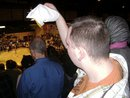 Paul cheering on the Golden Flashes during a basketball game