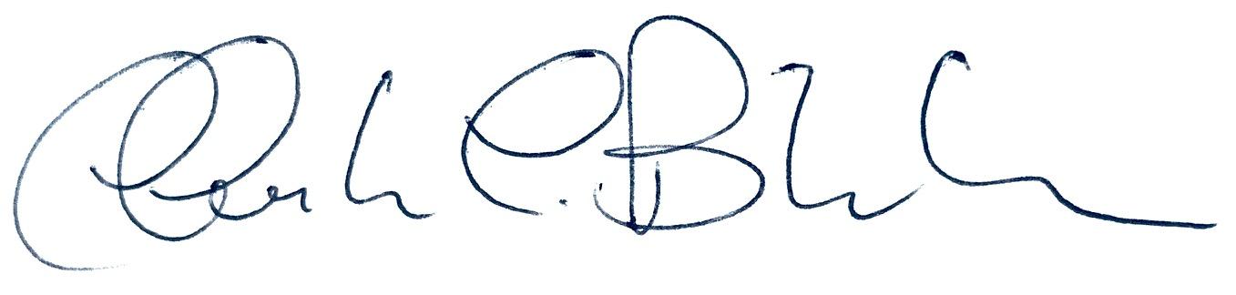 Signature of Dean Christina Bloebaum