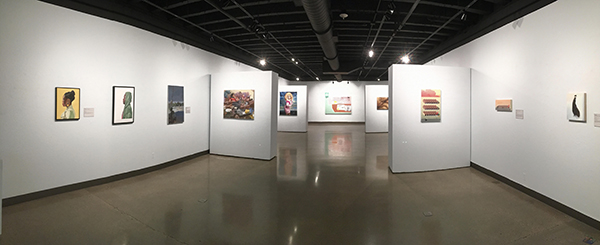 Installation view of the Young Painters Competition at Miami University in 2021
