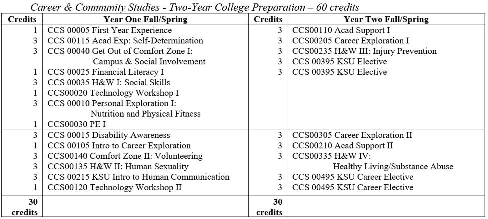 CCS College Preparation Plan of Study