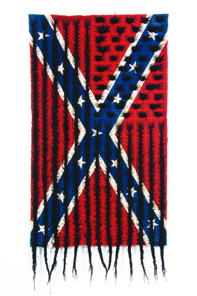 Clark Black Hair Flag