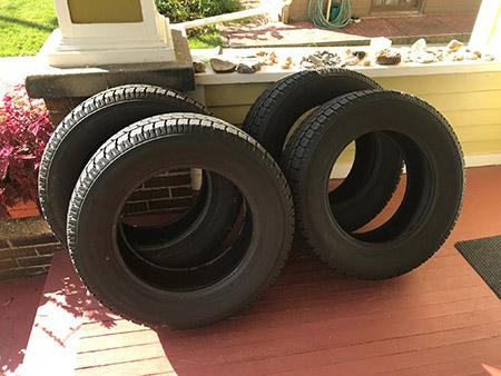 Set of Nitto NT-SN2 snow tires, size 235-65R17.