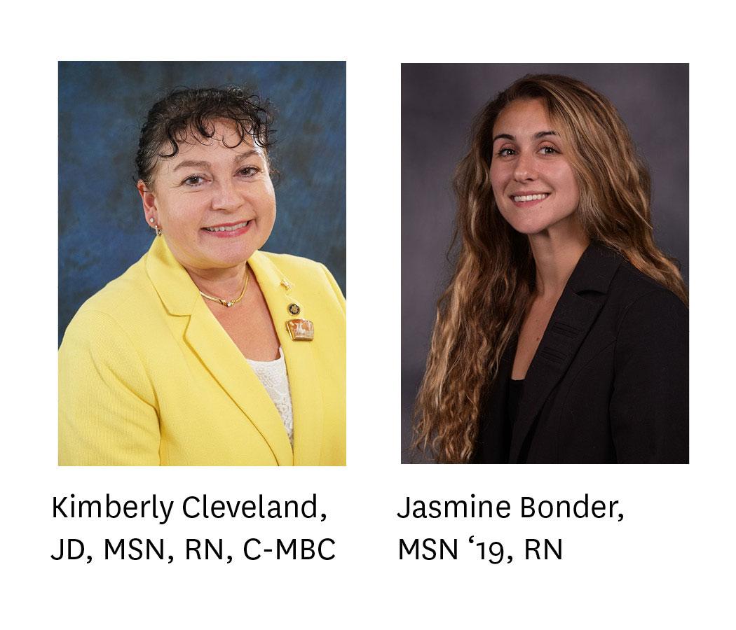 Headshots of Kimberly Cleveland and Jasmine Bonder