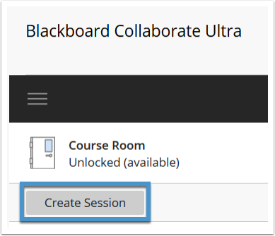 Collaborate Ultra create session