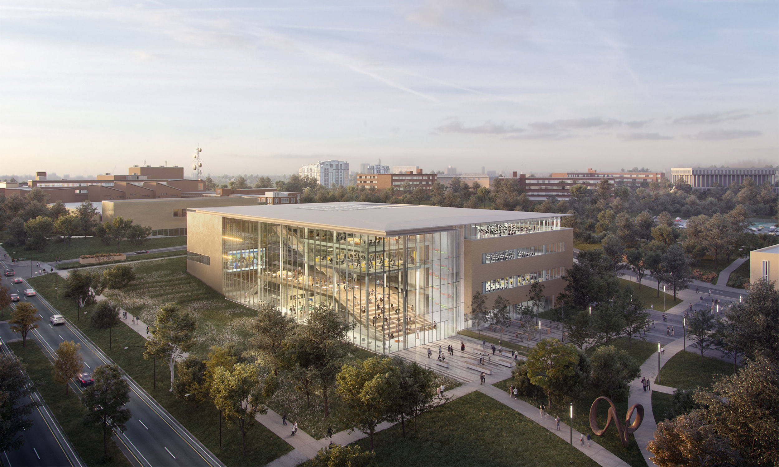 Rendering of new College of Business Administration building