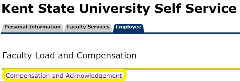 Step 5 Compensation and Acknowledgement Screenshot