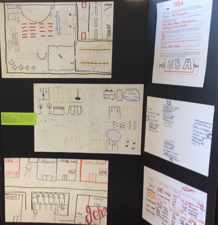 Conceptualizing Spaces presentation board