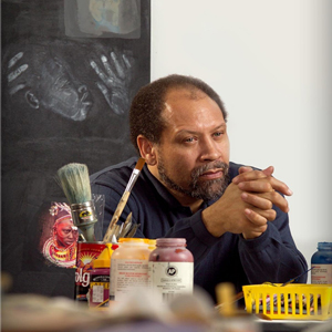 Curlee Raven Holton in his studio