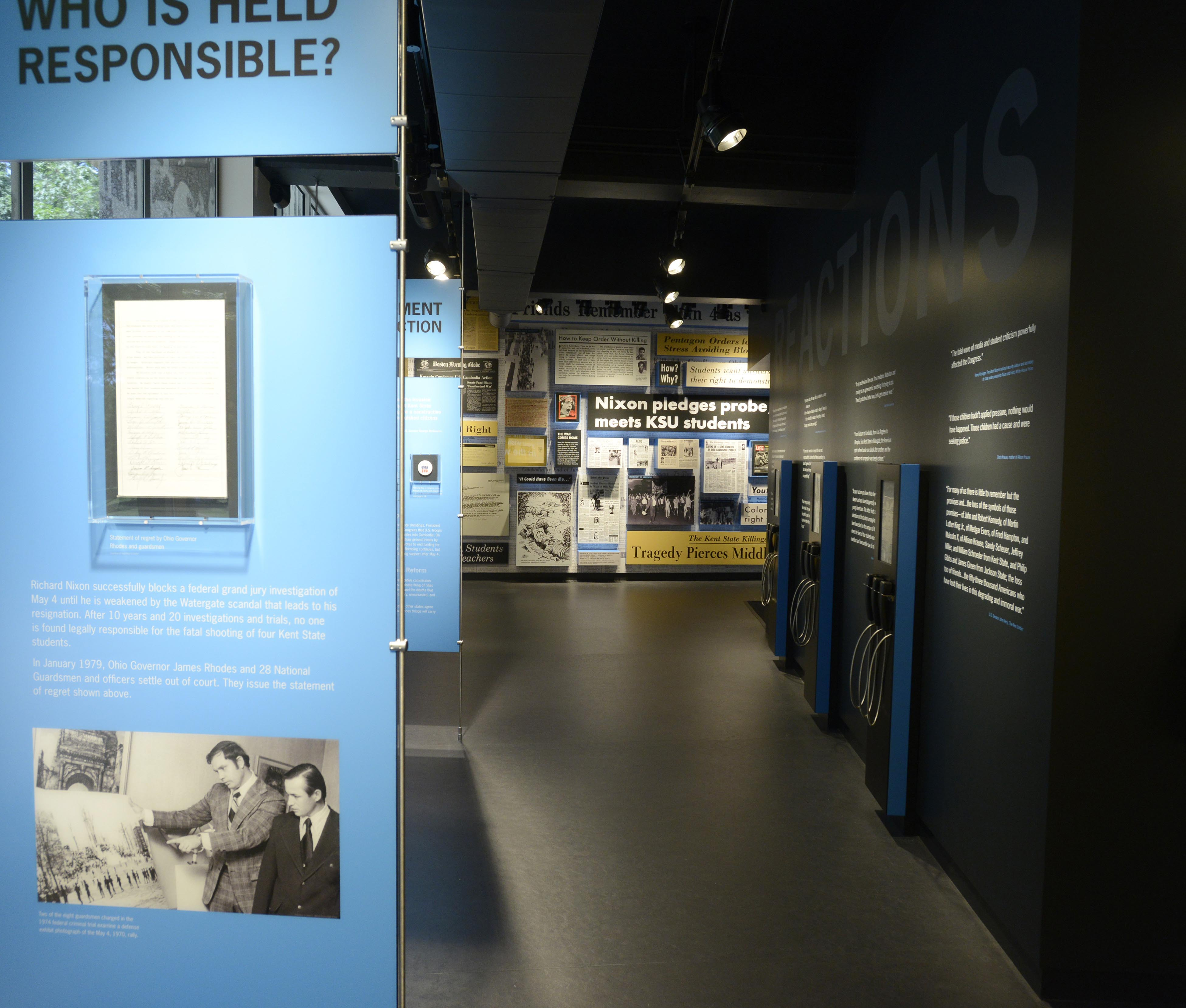The May 4 Visitors Center opened in 2014 inside Taylor Hall on Kent State's Kent Campus