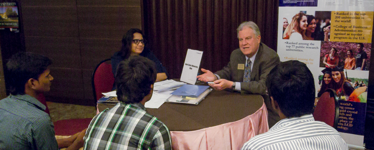 Director Robert Walker Meets With Prospective Master's Students in India