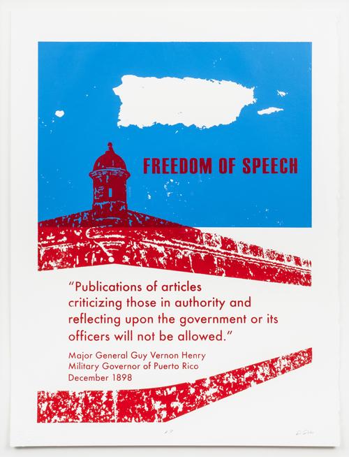 Freedom of Speech by Darice Polo, 2016