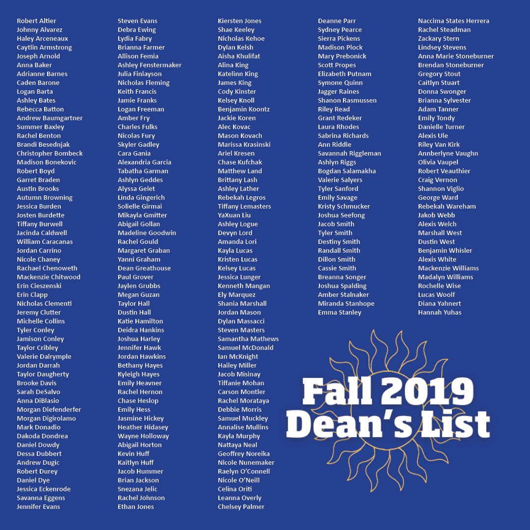 Fall Deans List