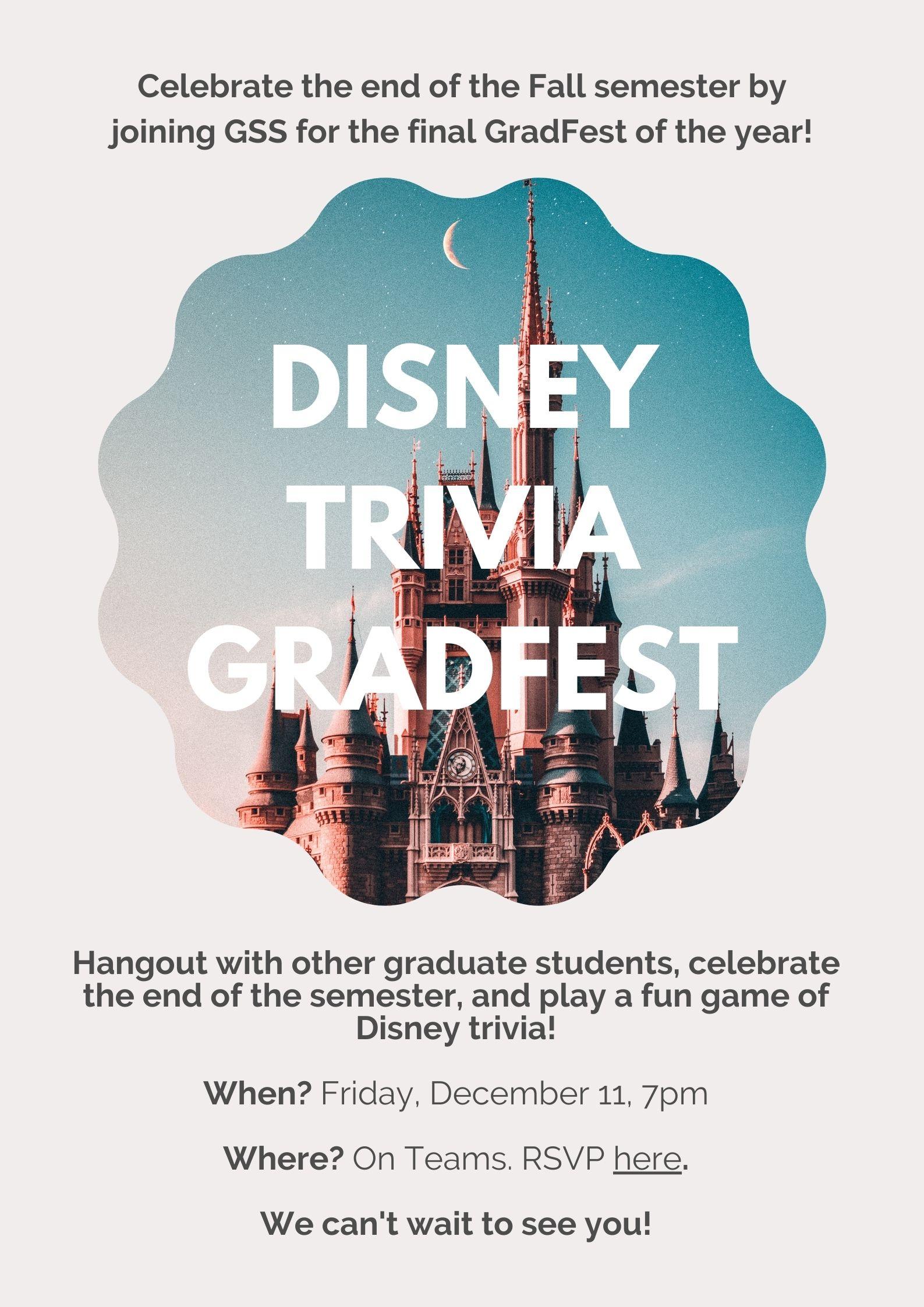 December Grad Fest – Disney Trivia
